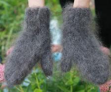 100%Longhair goat fluff mittens hand knitting Furry Fetish Mohair Jane Rodas