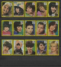 Nice Complete B-Set 40 Movie, Radio and TV Stars Dutch Vintage Matchbox Labels