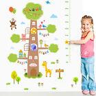 Cute Giraffe Animals Tree Height Chart Wall Sticker Kids Bedroom Decor Art Decal
