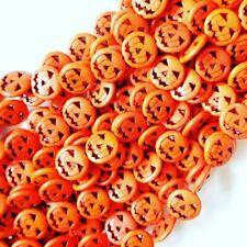 Pumpkin Beads, Halloween Beads, Jack O Lantern Beads, Orange Pumpkins, Zardenia