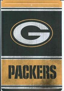 Green Bay Packers Metal Sign Vintage Wood Look Man Cave 8x12 FAST USA SHIPPING