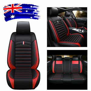 PU Leather Five-Sit SUV Auto Seat Cover Front+Rear Cushion Universal Car Sit Set