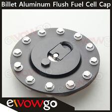 Billet Fuel Cell Cap Flush Mount 12 Bolt Aluminum Black Anodized