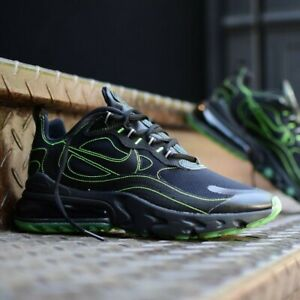 NIKE AIR MAX 270 REACT SE Running Sneakers CQ6549-001 Black/Electric Green  NEW