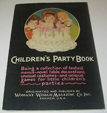 Children's Party Book collection of tested menus decorations games costumes 1928