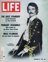 ORIGINAL Vintage Life Magazine September 25 1970 Suez Standoff