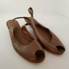 "White Mountain Womens Shoes sz 10M Brown Open Toe Sling Back Career 1.5"" Heels"