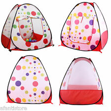 Kids Play House Indoor Outdoor Easy Folding Ball Pit Hideaway Tent Play Hut