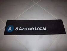 VINTAGE NYC SUBWAY R27 COLLECTIBLE ROLL SIGN A TRAIN 8TH AVENUE LOCAL MANHATTAN