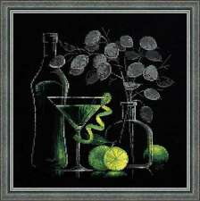 """Counted Cross Stitch Kit RIOLIS - """"Still Life with Martini"""""""