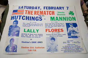 Boxing Poster (HSE) 80s Stockton California Civic Center Hutchings Mannion Lally
