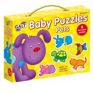 Galt Baby - PETS - 6 x 2 Pieces Puzzles - 18+M - Encourage Matching Skills BNIB
