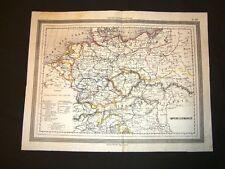 Carta geografica o mappa Marmocchi del 1876 L'Impero germanico o Germania