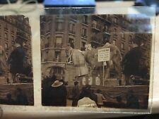 manifestation Paris 1921 le cinema frappé d'ataxie Photo Stereo Plaque de verre