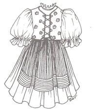"""Sewing Pattern fits 15-16"""" fashion Doll Dress msd Bjd 241"""