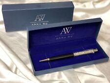 Fashion SWAROVSKI Element Crystal Pen with Anna Wu Gift Case BLACK