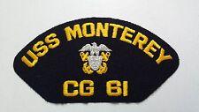US Navy Machine Embroidered Patch: USS MONTEREY CG 61