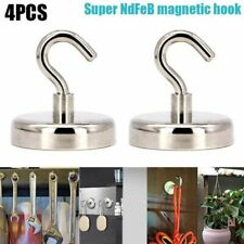 4pcs Strong Magnetic Hooks Heavy Duty Neodymium  Surfaces Not Scratch Magnet