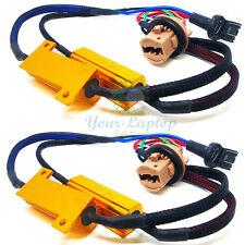 2x 7443 7444NA Hyper Flash Fix No Error Wiring Adapter For LED Turn Signal Light