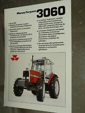 Prospectus MASSEY FERGUSSON 3060 Tracteur tractor traktor brochure prospekt