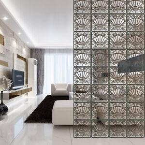 6/12x Folding Screen Room Divider Hanging Screens Wall Panel DIY Home Decoration