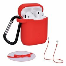 Silicone Case Cover Holder For Apple Air Pod Airpods Charging Case W/ Key Chain
