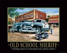 Law Enforcement Motivational Poster Art Print Sheriff Car Badge Patch  PRO19