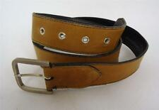 Para Hombre Calidad Vintage Grueso Marrón Bronceado usado en el oeste Buckle Cinturón Indie Mod