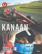 "2014 INDY 500 TONY KANAAN BRAZIL GANASSI RACING INDYCAR 7""X 9"" HERO CARD !"