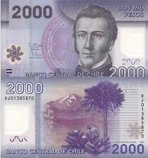 CHILE 5000 Pesos Banknote World Money Currency Polymer Note p163 Owl 2009 Bill