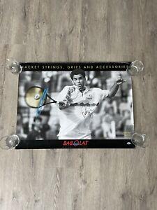 Vintage PETE SAMPRAS Signed BABOLAT Tennis Racquet Promo Poster Auto Beckett COA