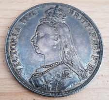 GB 1891 Queen Victoria. Silver Crown Very Nice - High Grade *about EF*