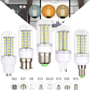 Led Bulb E27 220V LED Corn Light B22 E14 B15 G9 GU10 5730 SMD Energy White Lamp