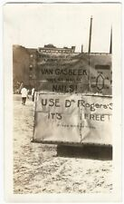 1920s Brooklyn New York Weird Folk Protest Sign Black & White Snapshot