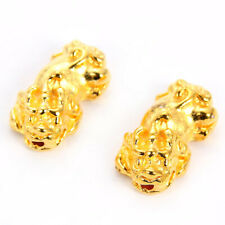 Gold Chinese Lucky Feng Shui Brave Troop PiXiu Beads DIY Men Beaded Bracelet 5Pc