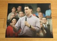 Scott Walker Governor Wisconsin Autograph Signed 8x10 Photo #3 2016 President