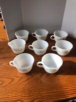 Vintage  CORNING Corelle Gray RIBBON BOUQUET 8 Cups