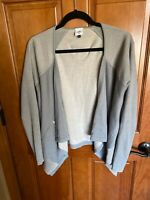 """Darling Cabi # 5132 """"Pocket Cardigan"""" in Sage Open-Front Draped Cotton Sweater M"""