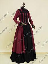 Gothic Victorian Dress Gown Steampunk Reenactment Halloween Costume N 175 XXXL