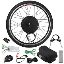 48V 1000W 26'' Front Wheel Electric Bicycle E-bike w/Tire Motor Conversion Kit