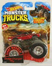 NIB Mattel Hot Wheels Monster Trucks Giant Wheels Red Dodge Charger 1:64 Truck