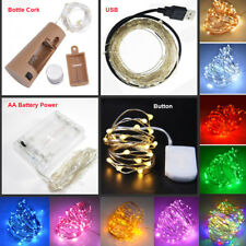 20/30/100LED Fairy String Battery/USB Micro Rice Wire Lights Party Xmas Decor CA