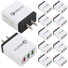 10x 3-Port USB Wall Charger with Quick Charge 3.0 Ports For iPhone X Samsung LG