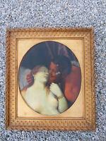 Phantastische Aktszene einer Dame mit Pan Adolf Frey-Moock (1881-1954) zugeschr.
