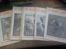 Lot de 10 Les bonnes soirées revue hebdomadaire illustrée année 1936