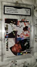 1993 STADIUM STARS MICHAEL JORDAN ROOKIE /FRANK THOMAS GRADED CARD MINT 10+BONUS