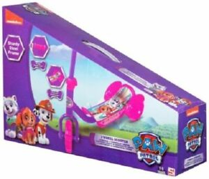KIDS PAW PATROL 3 WHEEL ADJUSTABLE GRIP SCOOTER OUTDOOR RIDE ON TOY <BEST GIFT>