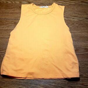 Athleta Womens Citytime Sweatshirt Tank Top 438599 Small Orange Athletic