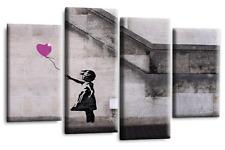 "BANKSY ART Picture Purple Balloon Girl Print Love Peace Wall Canvas 44"""