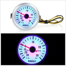 Vehicle Instruments Car Turbo Boost Gauge PSI AUTO Meter Blue Color Led 2